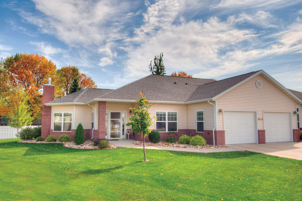 An independent living cottage at Touchmark at Harwood Groves in Fargo, North Dakota