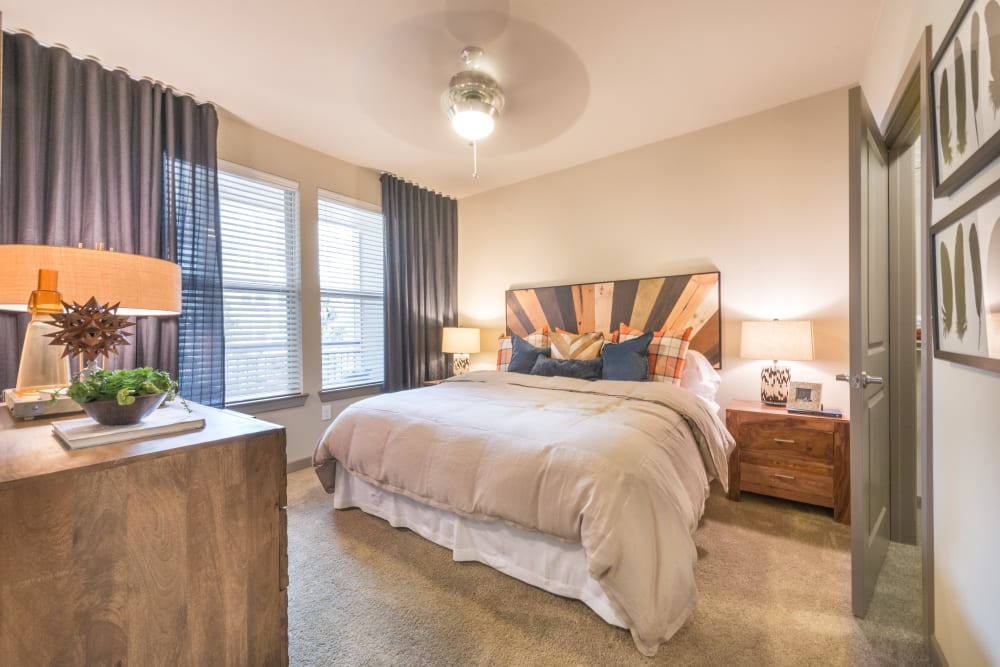 Spacious master bedroom at Aviator West 7th in Fort Worth, Texas