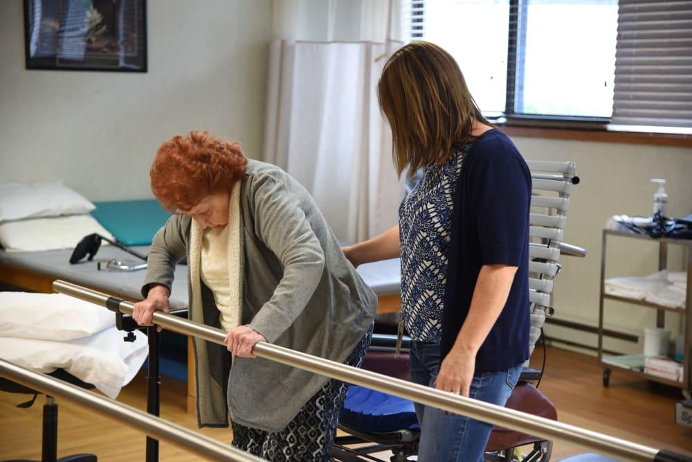 Strength training classes at Belle Reve Senior Living in Milford, Pennsylvania