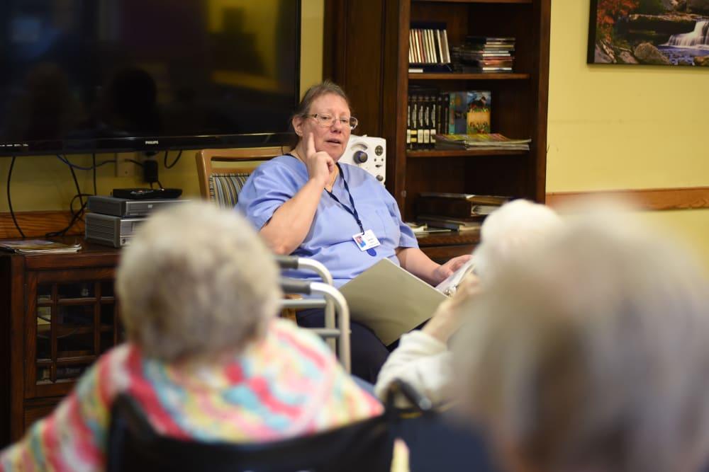 Rehabilitation courses at Belle Reve Senior Living in Milford, Pennsylvania