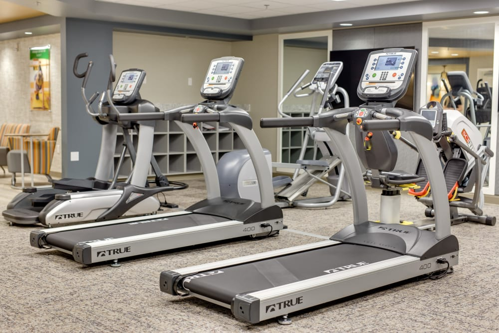 Exercise equipment at Touchmark at Coffee Creek in Edmond, Oklahoma