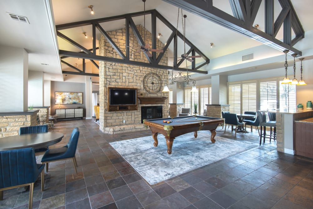 Clubhouse at Apartments in Plano, Texas