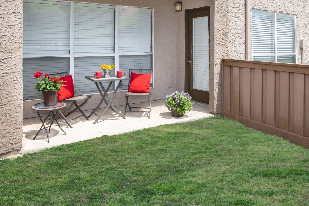Our Apartments in Plano, Texas offer Backyards