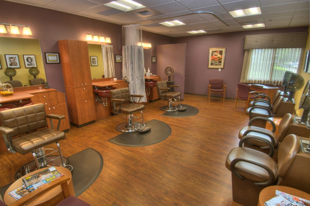 An onsite hair salon at Touchmark on South Hill in Spokane, Washington