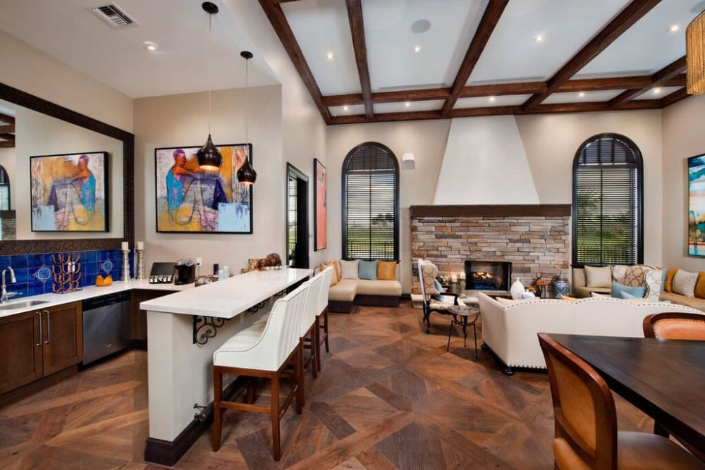Resident clubhouse interior at Doral View Apartments in Miami, Florida