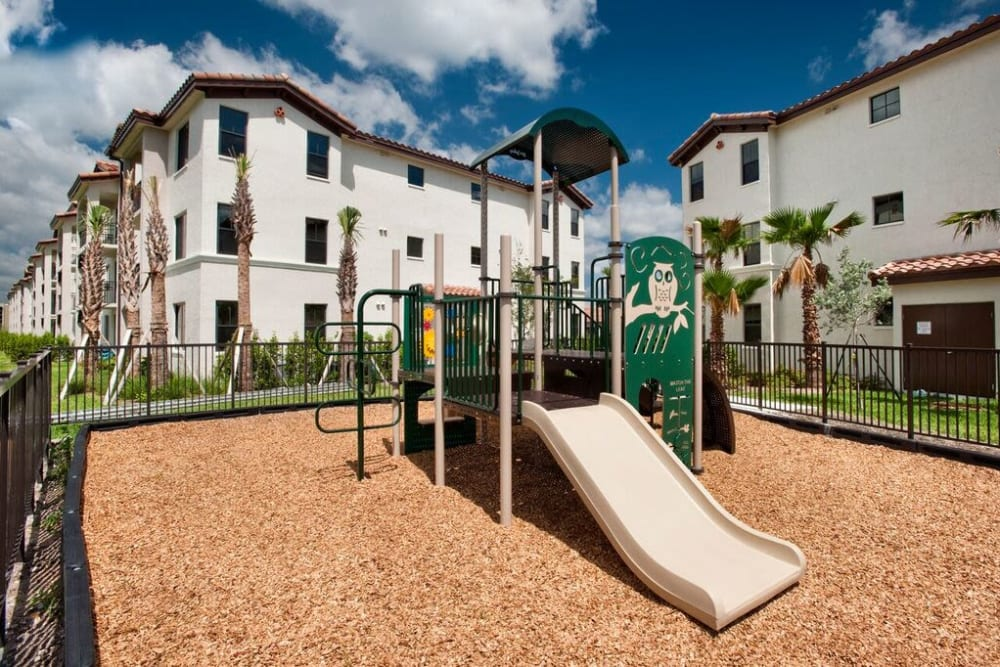Onsite children's playground at Doral View Apartments in Miami, Florida