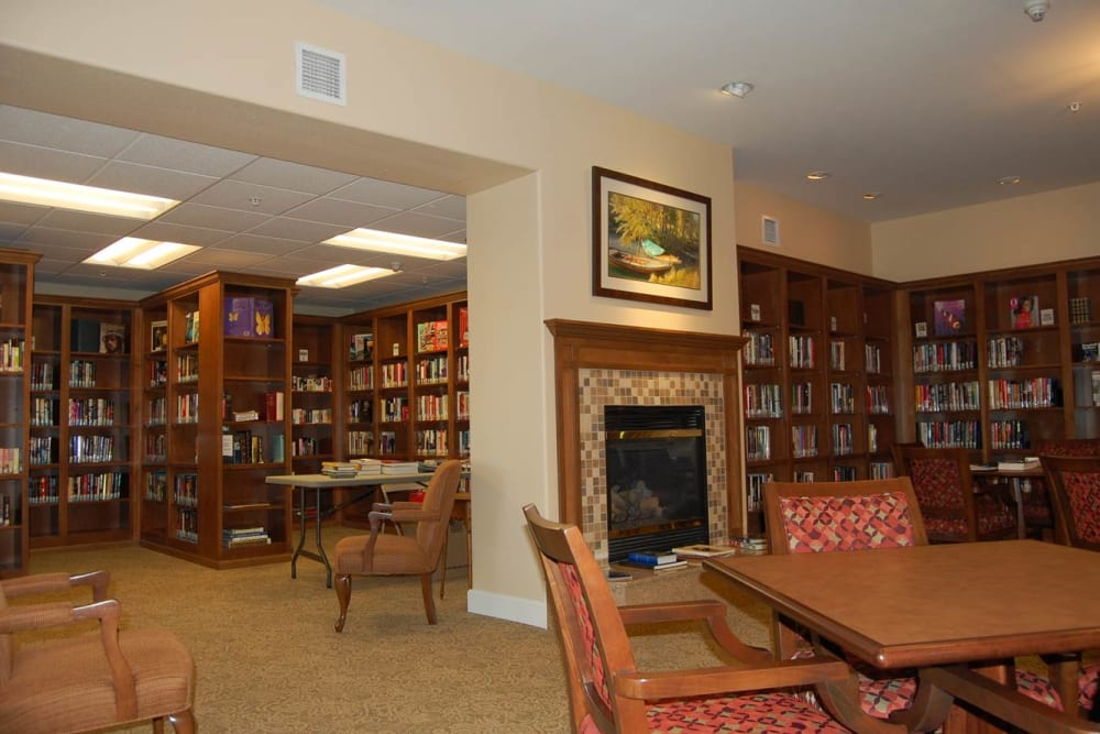 A community library at Touchmark on West Prospect in Appleton, Wisconsin