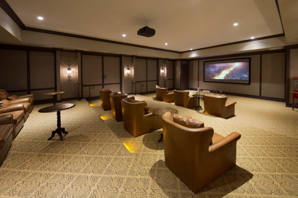 Onsite theater at Town Fontainebleau Lakes Apartment Residences in Miami, Florida