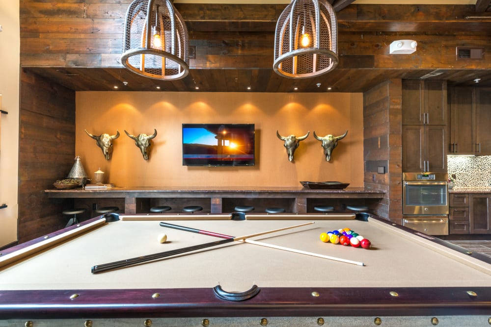 Billiards table at Aviator West 7th in Fort Worth, Texas