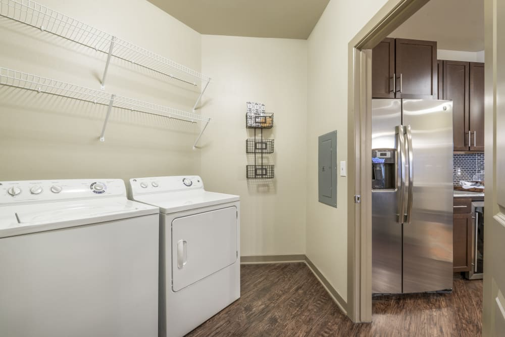 In-unit laundry room at Aviator West 7th in Fort Worth, Texas