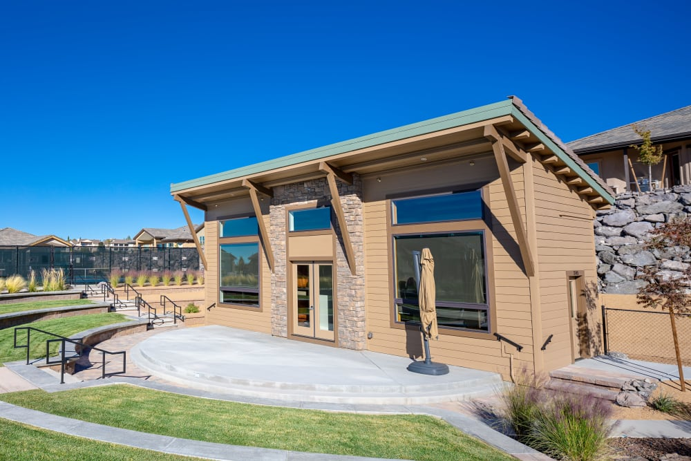 The community center exterior at Touchmark at The Ranch in Prescott, Arizona