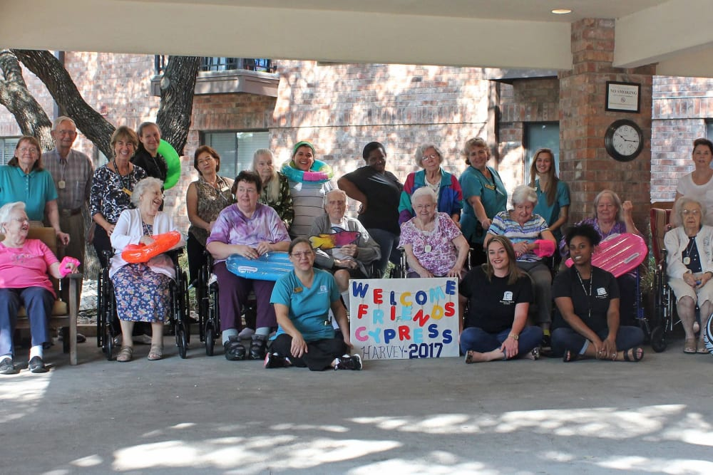 Residents celebrating at Parsons House Cypress in Cypress, Texas