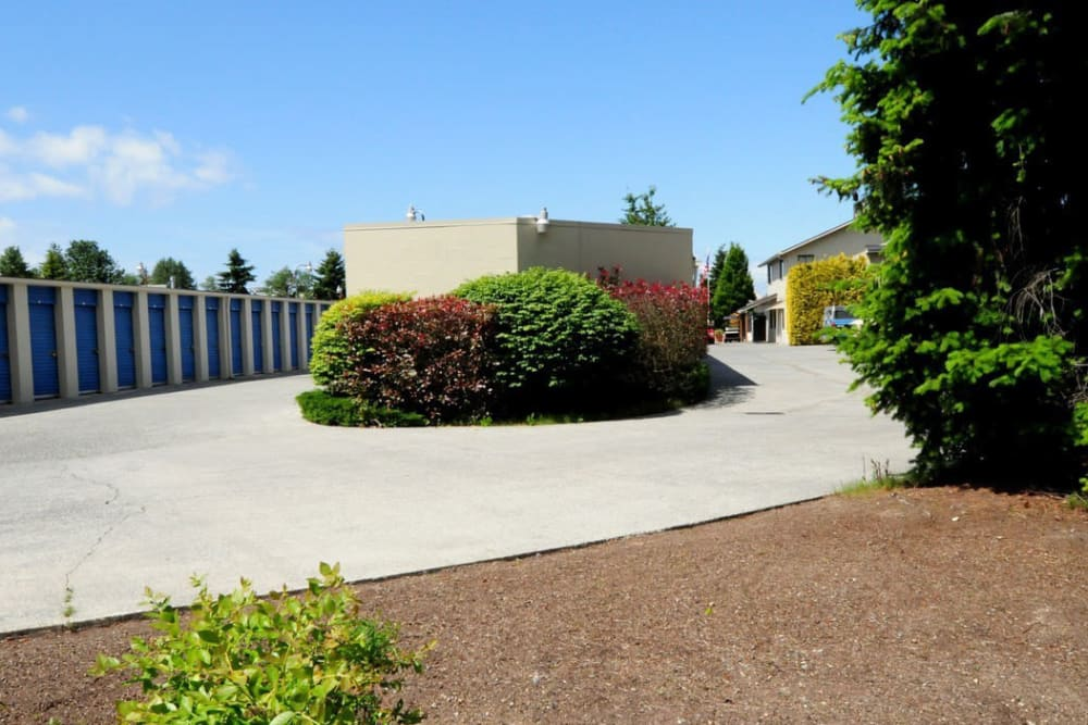 Gated security at Trojan Storage in Everett, Washington