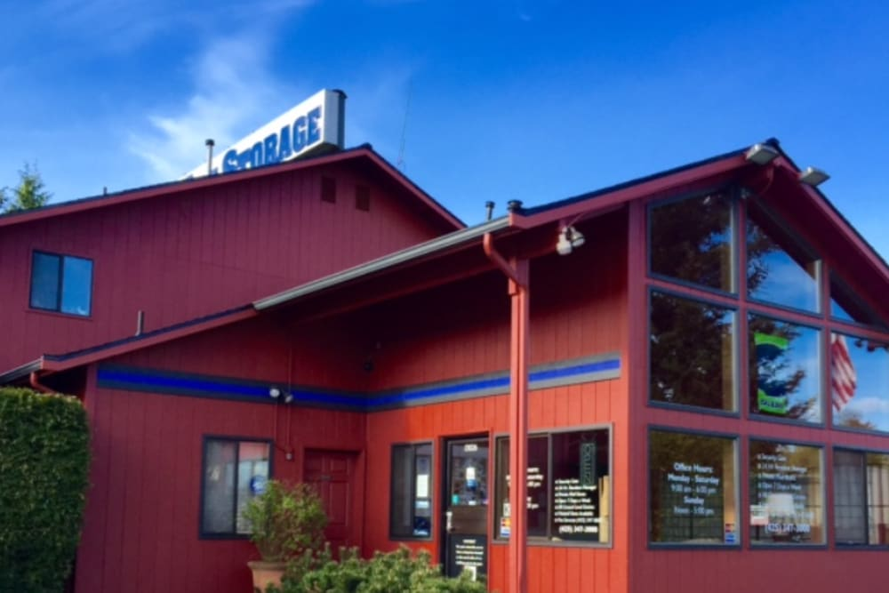 Leasing office at Trojan Storage in Everett, Washington