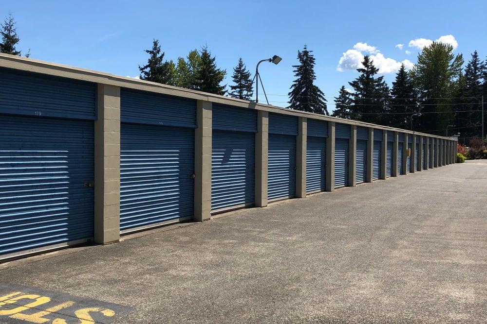 Outdoor unit view at Trojan Storage in Everett, Washington