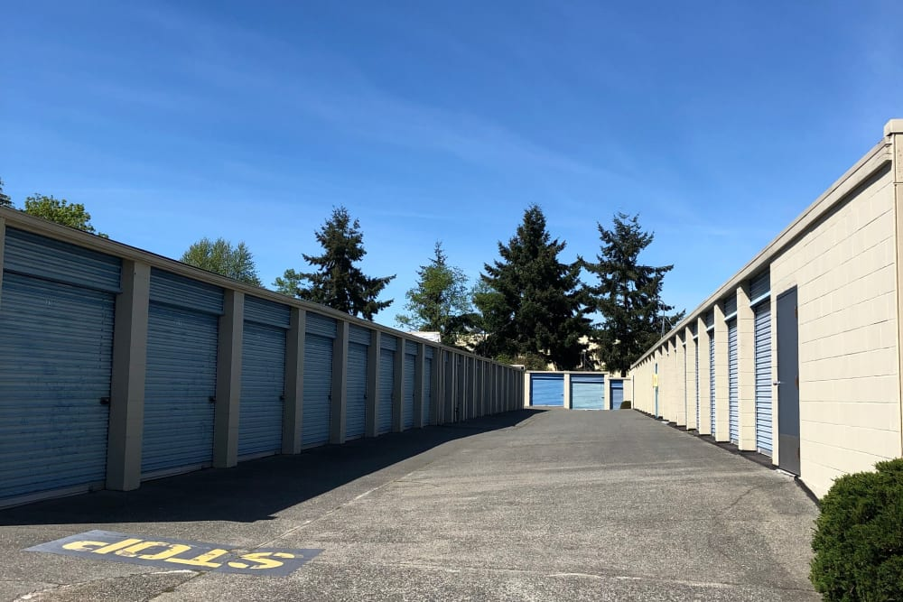 Large units available for rent at Trojan Storage in Everett, Washington
