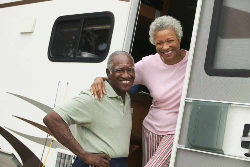 Couple picking up there RV at DELETED - DeLand Self Storage in DeLand, Florida