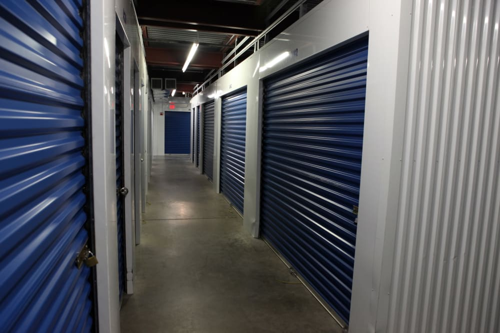 Indoor units at Premier Storage Solutions of West Islip in West Islip, New York