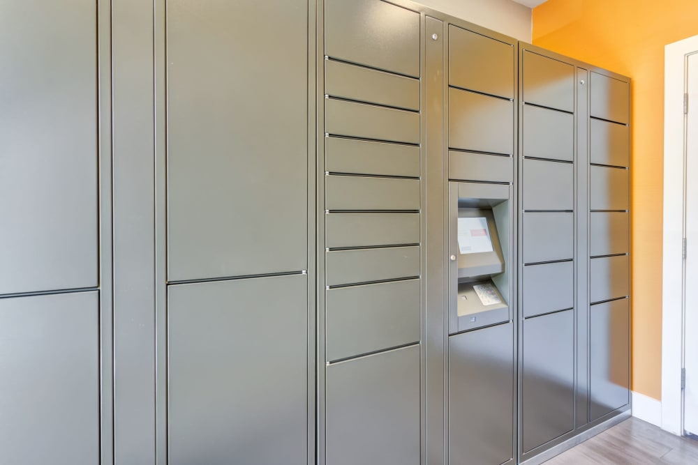 24-hour Package lockers at Tuscany Village Apartments in Ontario, CA