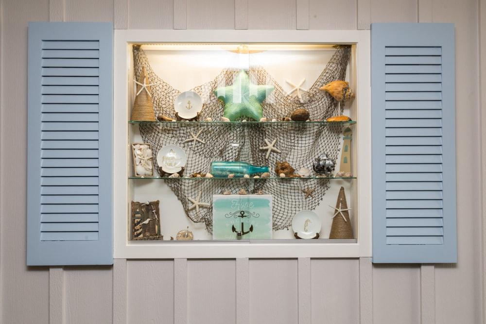 Seashells on display at Artis Senior Living of Yardley in Yardley, Pennsylvania