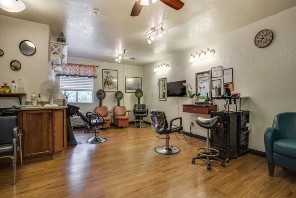Barbershop for residents at Parsons House Austin in Austin, Texas