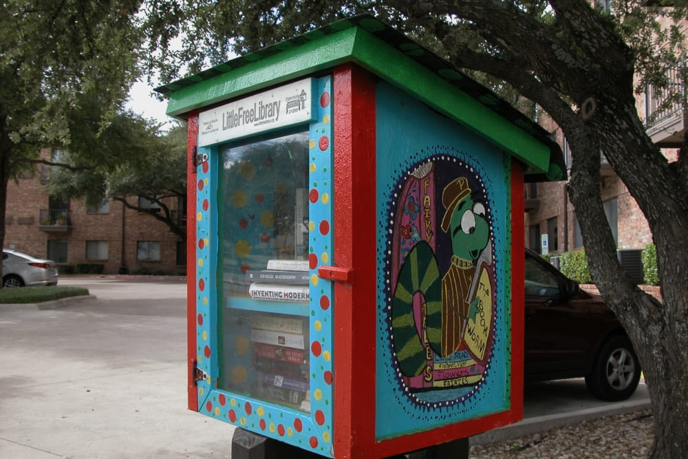 Community library at Parsons House Austin in Austin, Texas