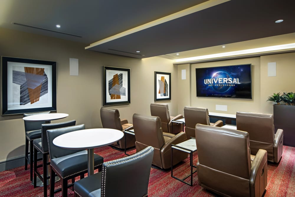 Onsite movie theater at The Core Scottsdale in Scottsdale, Arizona