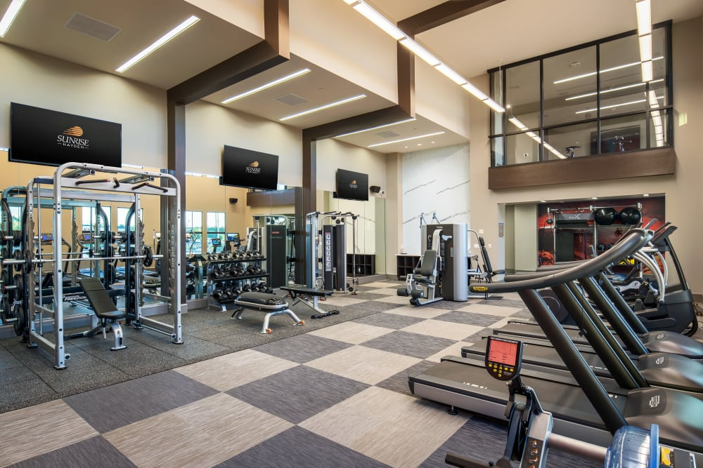 Onsite fitness center at The Core Scottsdale in Scottsdale, Arizona