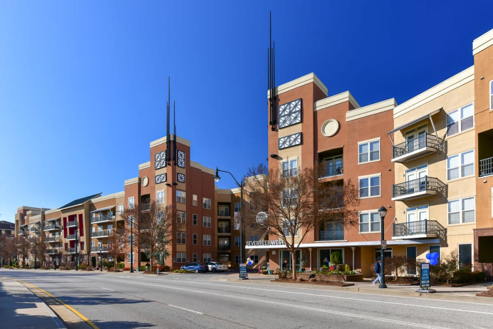 Street view at Seventeen West in Atlanta, Georgia