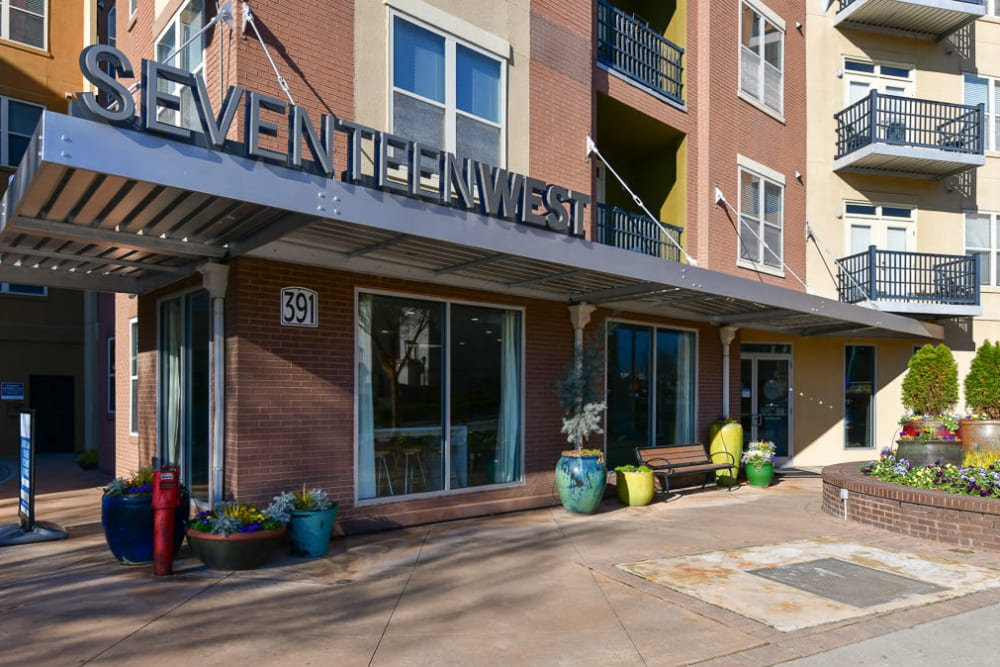 Front entrance to leasing office at Seventeen West in Atlanta, Georgia
