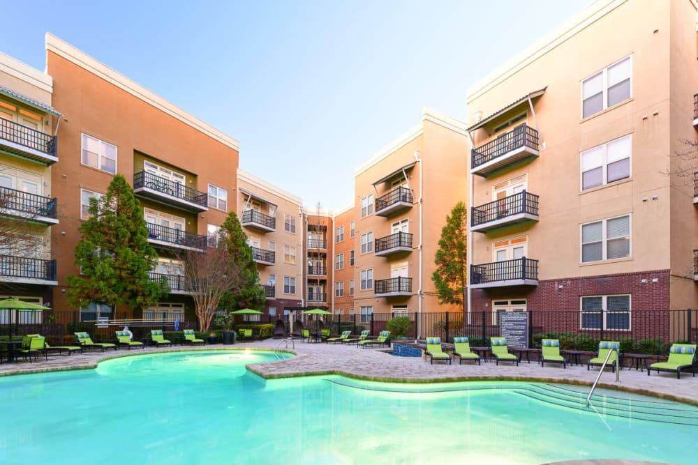 Multiple pools at Seventeen West in Atlanta, Georgia