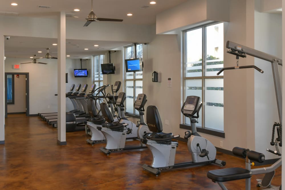 Cardio area at Seventeen West in Atlanta, Georgia