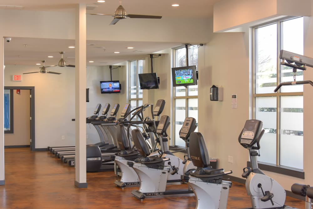 Gym equipment at Seventeen West in Atlanta, Georgia