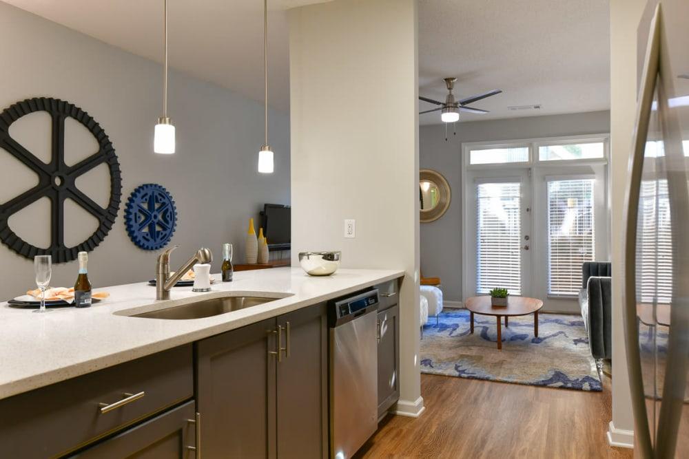 Spacious kitchen area at Seventeen West in Atlanta, Georgia