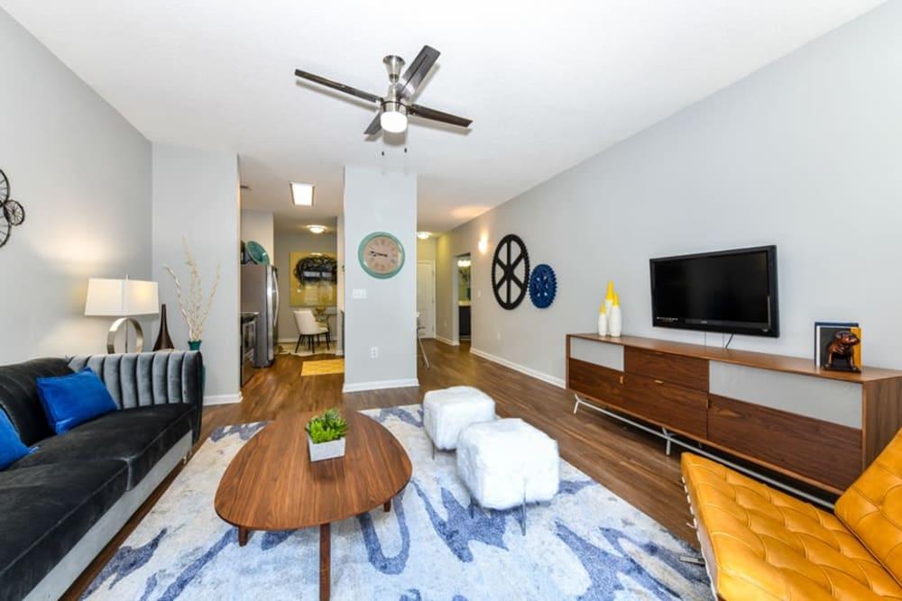 Living room area at Seventeen West in Atlanta, Georgia