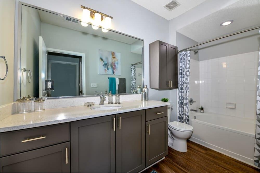 Beautiful bathroom model at Seventeen West in Atlanta, Georgia