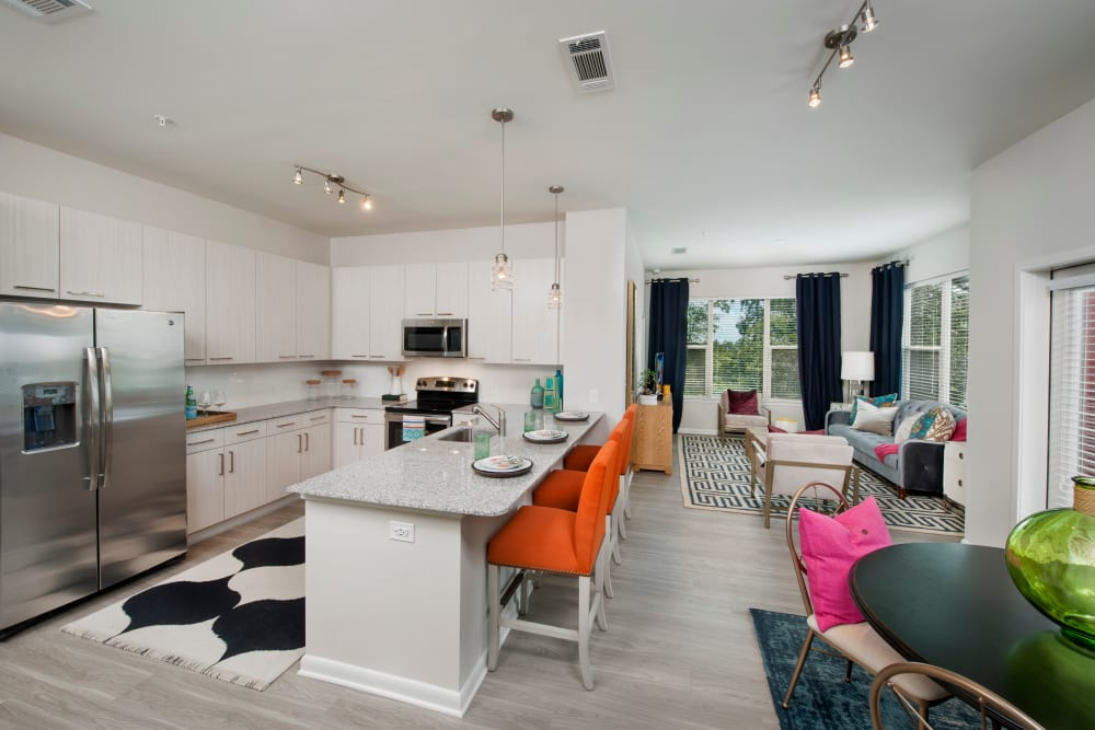 Open, spacious floor plan at City View Vinings in Atlanta, Georgia
