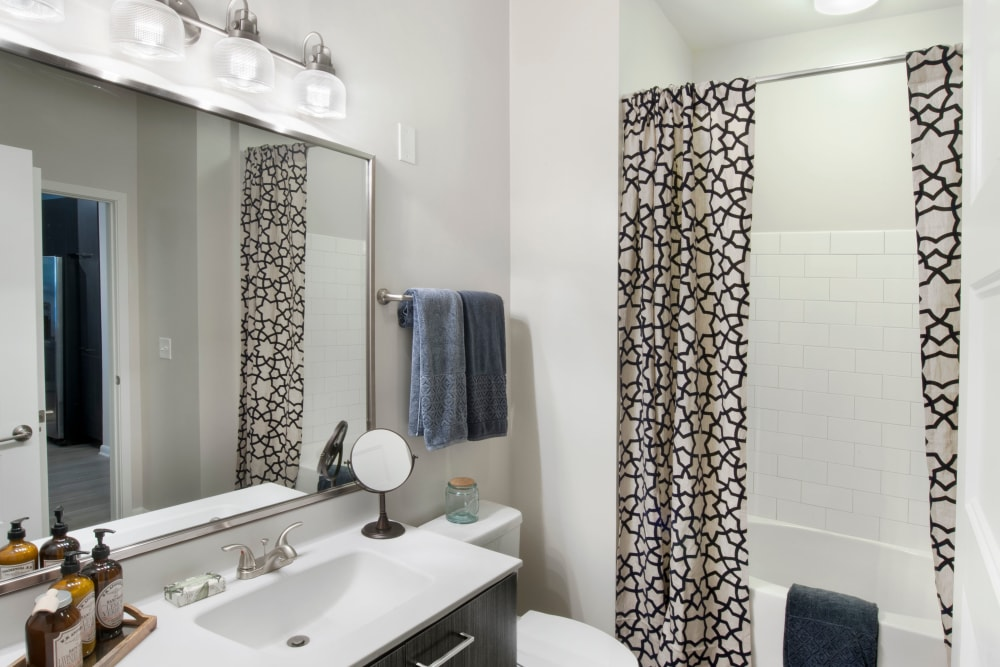 Bright bathroom at City View Vinings in Atlanta, Georgia