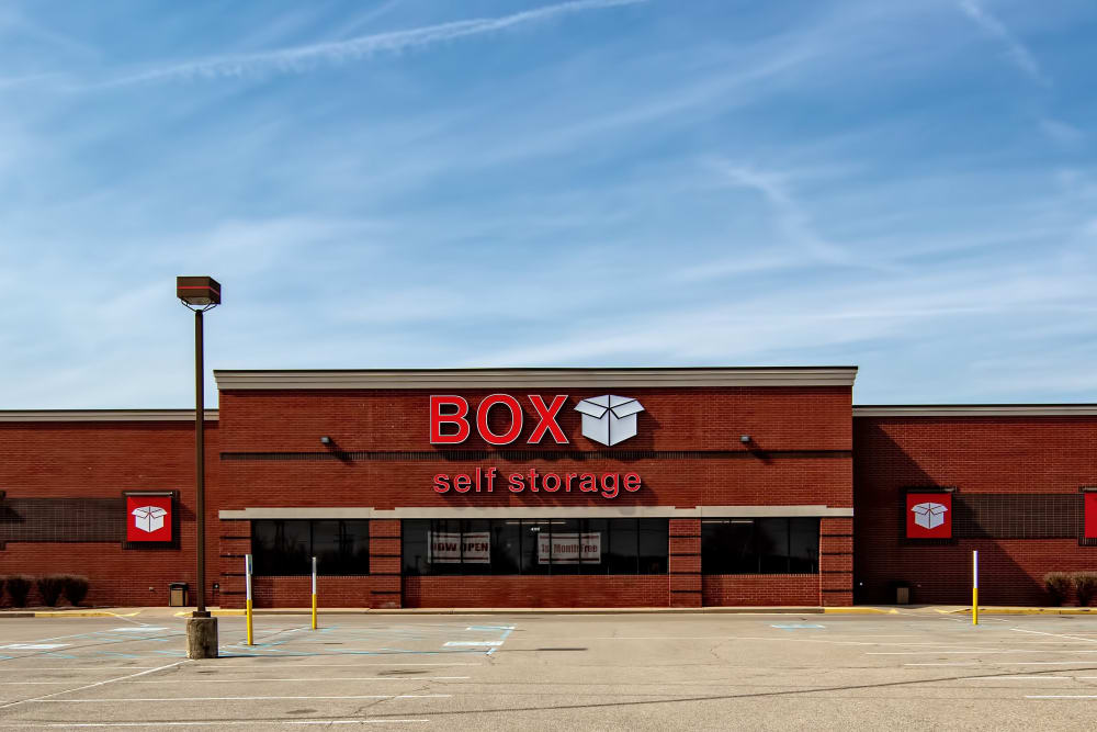 Front view of Box Self Storage Units Loveland OH