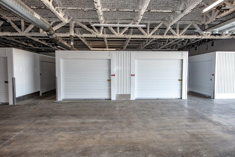Inside storage units at Box Self Storage Units Loveland OH
