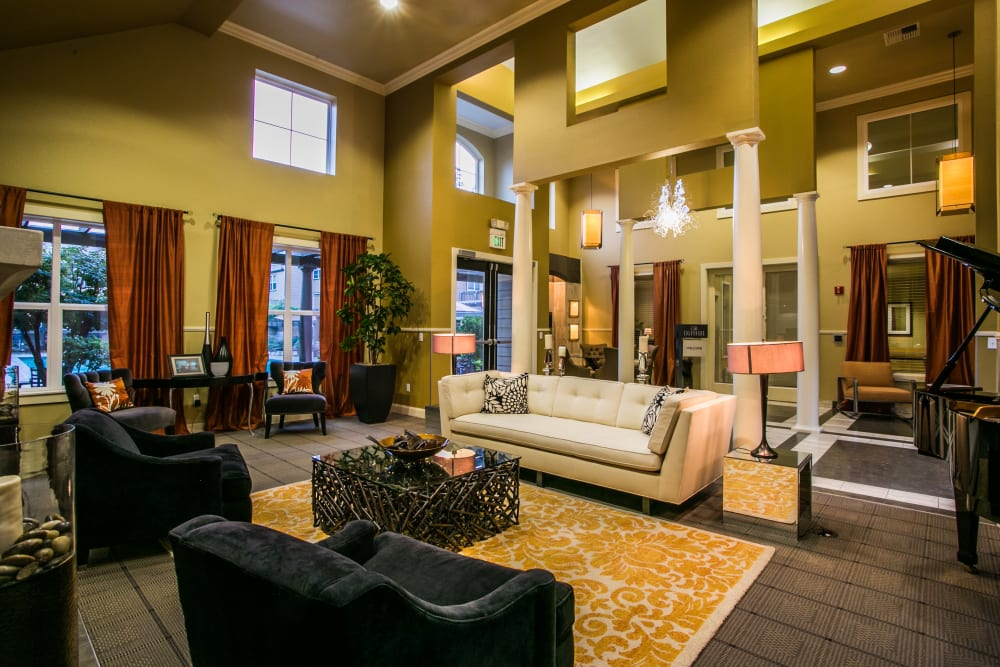 The Colonnade Luxury Townhome Rentals' clubhouse for residents in Hillsboro, Oregon