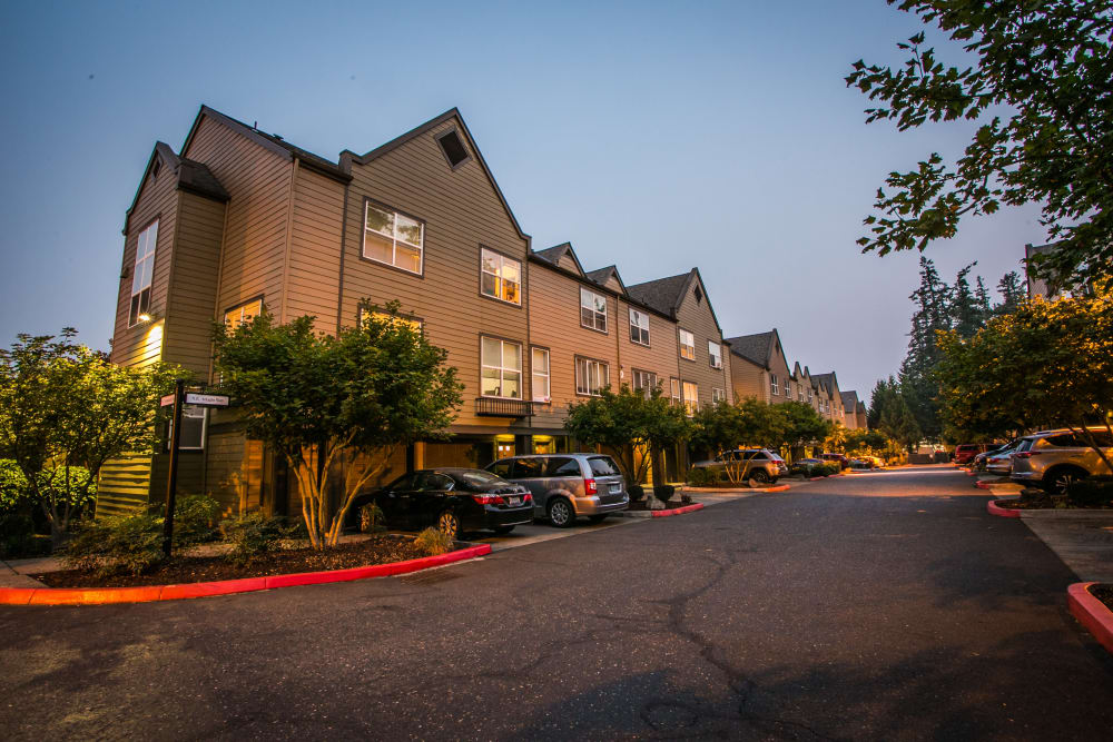 Stunning view of The Colonnade Luxury Townhome Rentals in Hillsboro, Oregon