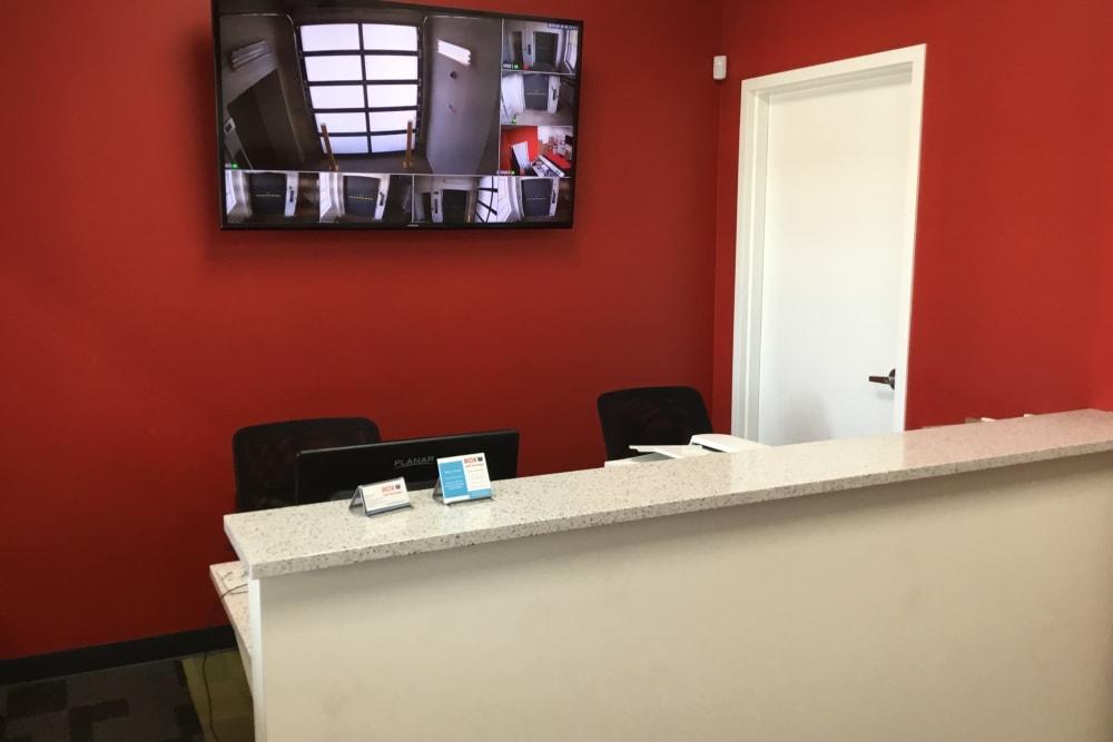 Customer service area at  Box Self Storage Units in Cincinnati, Ohio