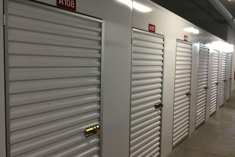 interior storage units at  Box Self Storage Units in Cincinnati, Ohio