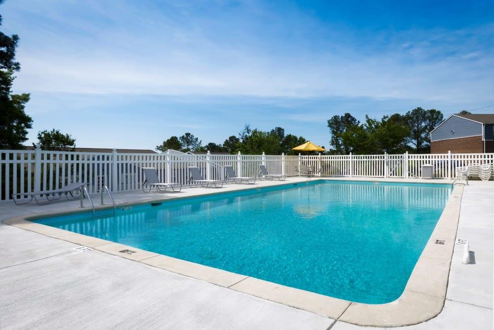 Gated swimming pool at Homewood Heights in Birmingham, Alabama