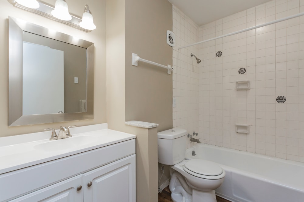 Bright bathroom at Belmont Place in Nashville, Tennessee