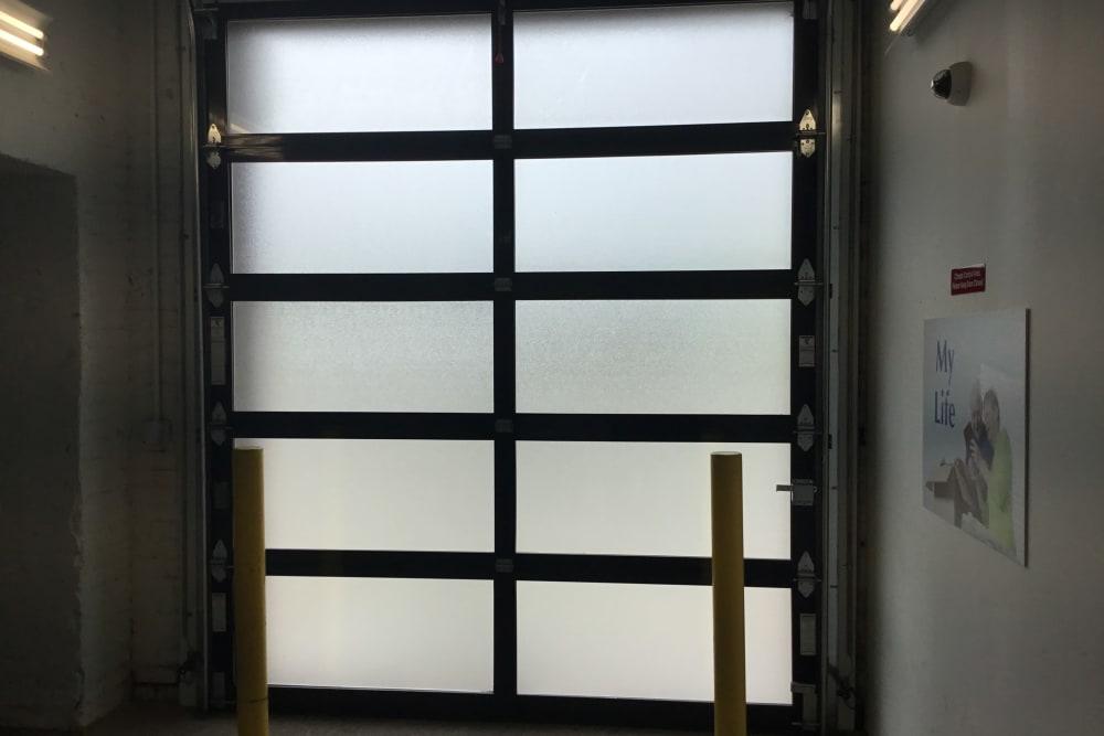access door to storage units at  Box Self Storage Units in Cincinnati, Ohio