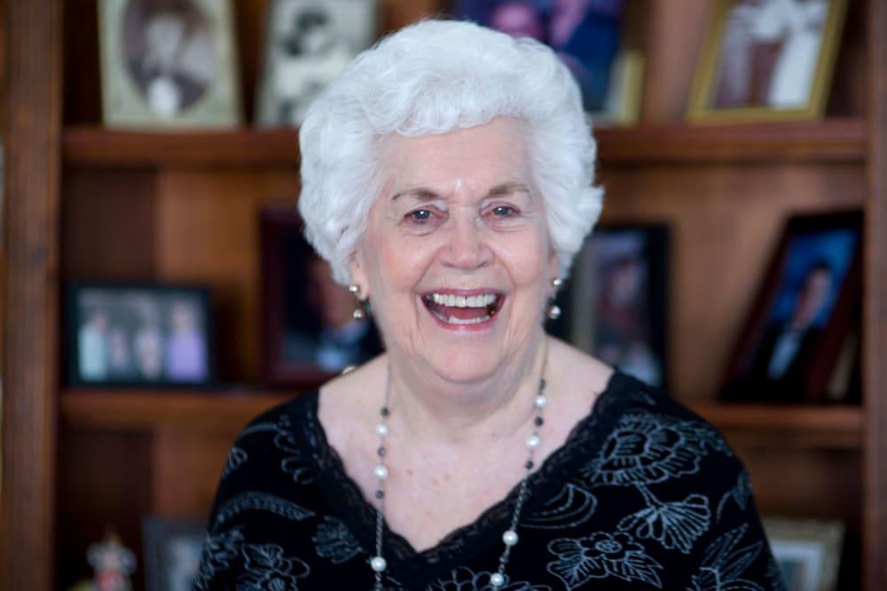 Resident laughing at Parsons House La Porte in La Porte, Texas