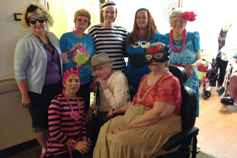 Residents during an event at Parsons House La Porte in La Porte, Texas