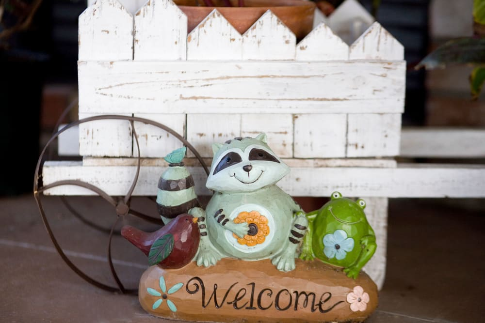 Cute welcome sign at Parsons House La Porte in La Porte, Texas